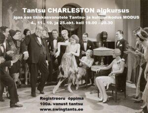 Tantsu CHARLESTON algkursus täiskasvanutele @ Tantsu- ja kultuurikodu MODUS